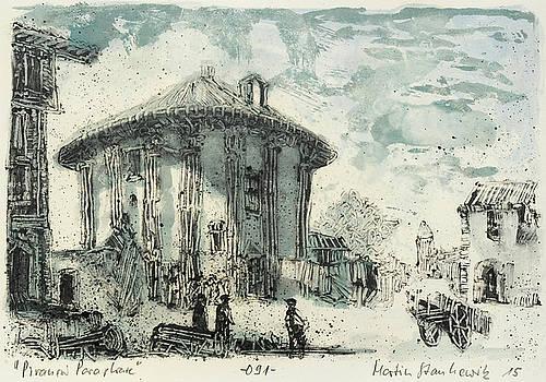 Piranesi Paraphrase No 91 temple of Cybele by Martin Stankewitz