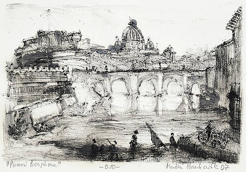Piranesi Paraphrase No.10 ,Vedute del Ponte e Castello Sant'Angelo by Martin Stankewitz