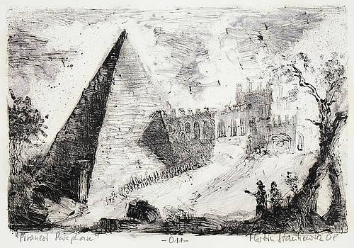 Piranesi Paraphrase No.11 pyramid of cestius by Martin Stankewitz