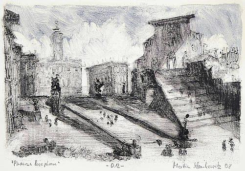Piranesi Paraphrase No.12 ,basilica of santa maria in ara coeli by Martin Stankewitz