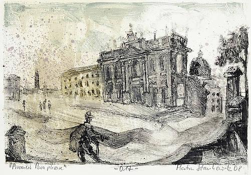 Piranesi Paraphrase No.17 Basilica di San Giovanni Laterano by Martin Stankewitz