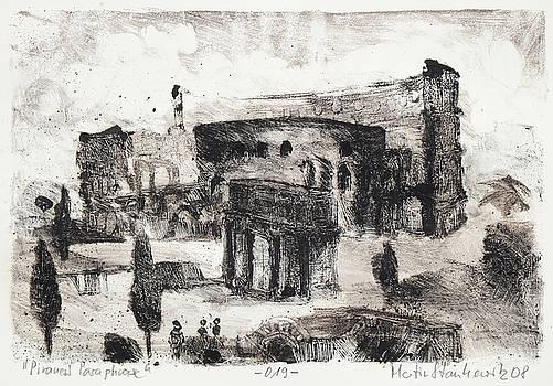 Piranesi Paraphrase No.19 Arco di Costantino by Martin Stankewitz
