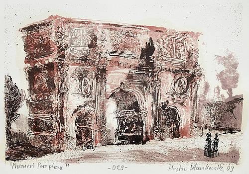 Piranesi Paraphrase No.29 - arch of Constantine by Martin Stankewitz