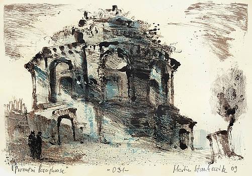 Piranesi paraphrase No.31 - view of the tempio della Tosse by Martin Stankewitz