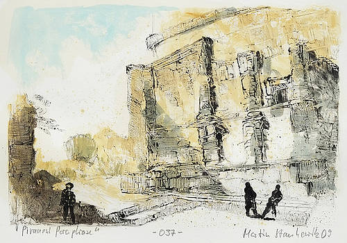Piranesi Paraphrase No.37 - view of the tomb of the Plautii by Martin Stankewitz
