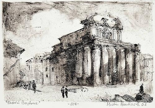 Piranesi Paraphrase No.9 Veduta del Tempio di Antonio e Faustina in Campo Vaccino by Martin Stankewitz