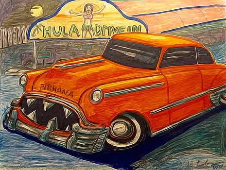 Larry Lamb - Piranha Classic car art