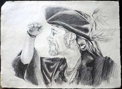 Pirate Mikey Portrait Drawing by Shelley Overton