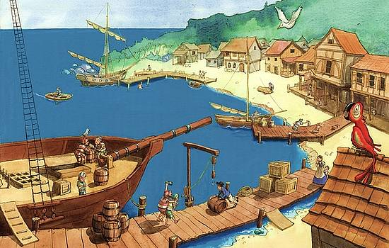 Pirate port by Andy Catling