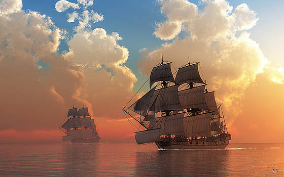 Pirate Sunset by Daniel Eskridge