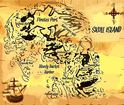 Larry Lamb - Pirate Treasure Map Skull Island