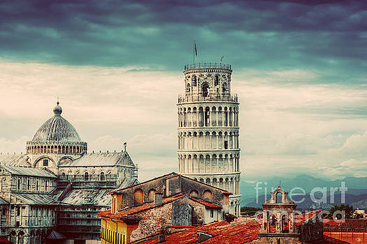 Michal Bednarek - Pisa Cathedral with the Leaning Tower panorama. Unique rooftop view