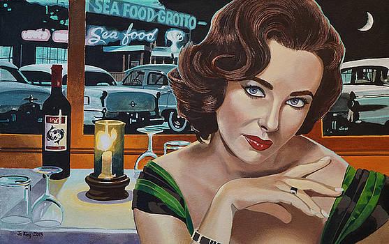 Pisces - Elizabeth Taylor by Jo King