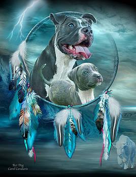 Pit Bulls - Rez Dog by Carol Cavalaris
