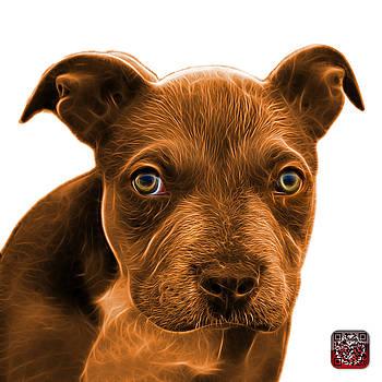 Pitbull puppy pop art - 7085 WB by James Ahn