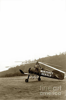 California Views Mr Pat Hathaway Archives - Pitcairn  Autogiro PCA-2 cn B-7 NC10761  Monterey Herald Circa 1931
