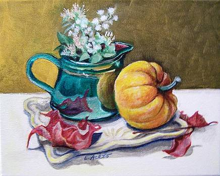 Pitcher and Pumpkin by Laura Aceto