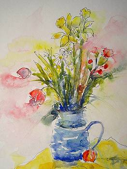 Pitcher of Flowers by Corynne Hilbert