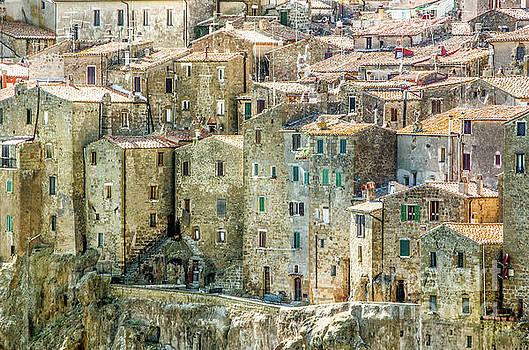 Pitigliano houses closeup Grosseto Tuscany by Luca Lorenzelli