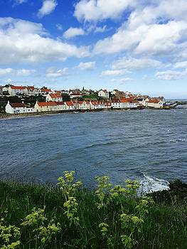 Pittenweem Village Fife by Caroline Reyes-Loughrey