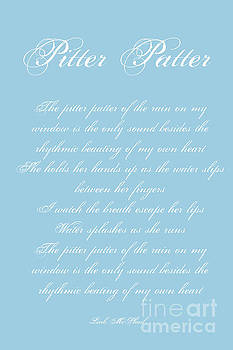 Pitter Patter Poem Typography by Leah McPhail