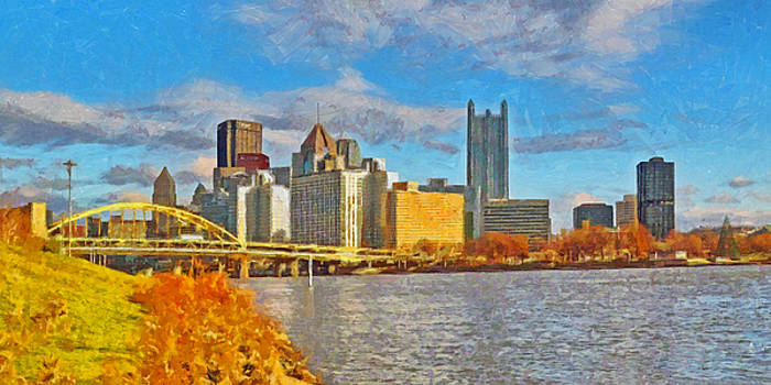 Pittsburgh From The Shore Of The Ohio River by Digital Photographic Arts