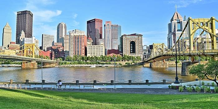 Pittsburgh PA Panoramic by Frozen in Time Fine Art Photography