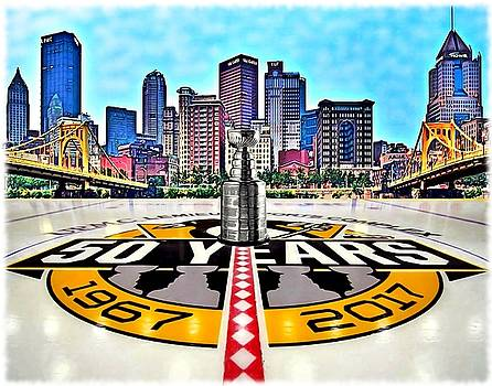Pittsburgh Penguins 50th Anniversary by Charles Ott