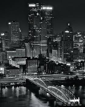 Pittsburgh Standing Tall in Black and White by Frozen in Time Fine Art Photography