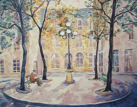 Place de Furstenberg, Paris by Lynn Gimby-Bougerol