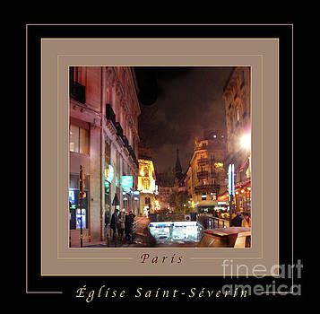 Felipe Adan Lerma - Place St Michel - West To Eglise Saint Severin Greeting Card and Poster v2