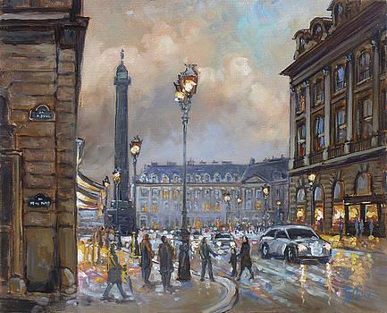 Place Vendome, Paris by Irek Szelag