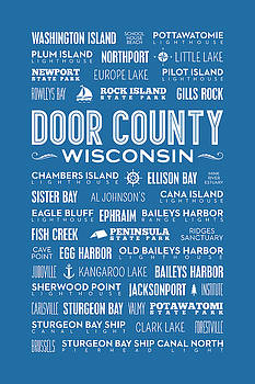 Christopher Arndt - Places of Door County on Blue