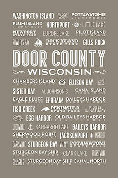 Places Of Door County On Brown by Christopher Arndt