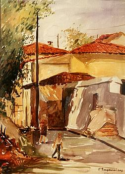 Plaka Athens by George Siaba