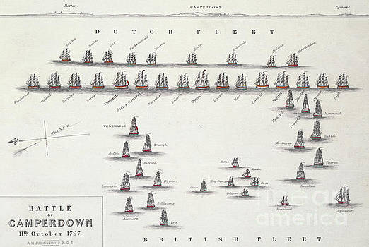 Alexander Keith Johnston - Plan of the Battle of Camperdown, 11th October 1797
