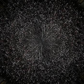 Planet Pixel Black Abyss by Christina VanGinkel