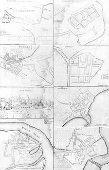 English School - Plans of the principle Towers, Forts and Harbors in Ireland