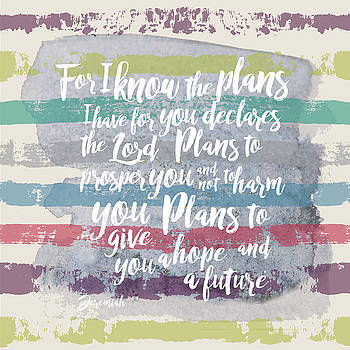 Plans I have For You Stripes by Claire Tingen