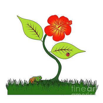 Plant and flower by Gaspar Avila