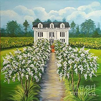 Plantation Home by Sandra Lett