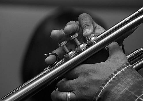 Play Your Horn - Black and White by Al Junco
