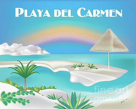 Playa del Carmen Mexico Horizontal Scene by Karen Young