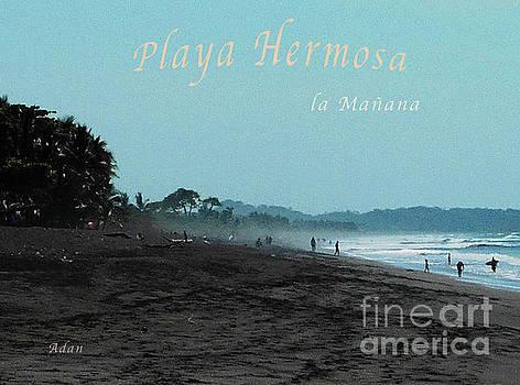 Felipe Adan Lerma - Playa Hermosa Puntarenas Costa Rica - la Manana Poster Greeting Card