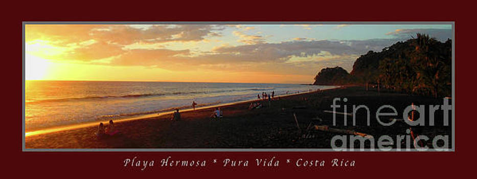 Felipe Adan Lerma - Playa Hermosa Puntarenas Costa Rica - Sunset A One Panorama Poster Greeting Card