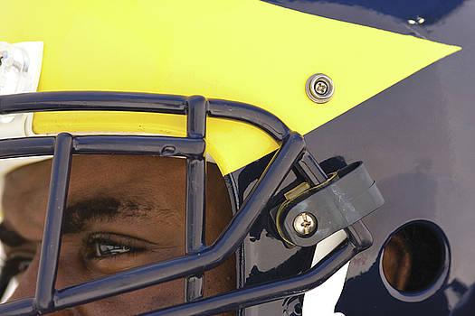 Player in Winged Helmet by Michigan Helmet