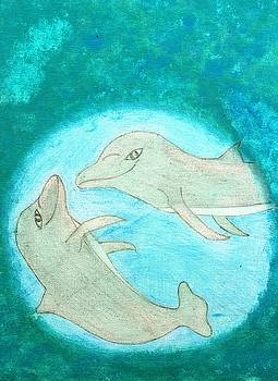 Playful Dolphins by Connie Ann LaPointe