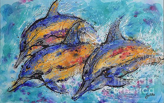 Playful Dolphins by Jyotika Shroff