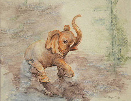 Playful Elephant Baby by Sandy Murphree Jacobs