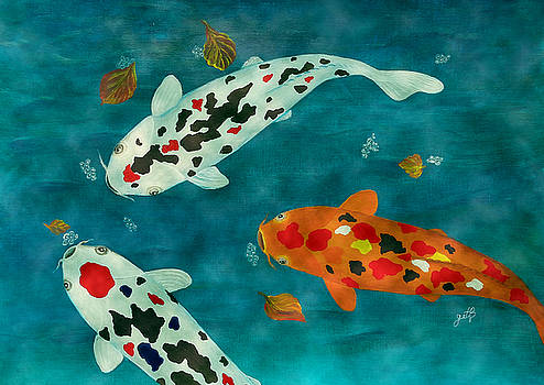 Playful Koi Fishes original acrylic painting by Georgeta Blanaru